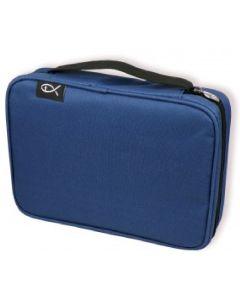 """Bibeltasche XL """"Fisch"""" - blau"""