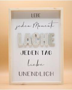 """Wandbild aus Holz """"LACHE"""""""