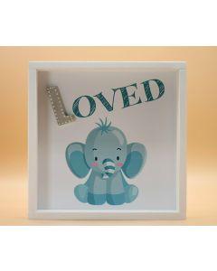 "Wandbild aus Holz ""LOVED"" Elefant - ohne Spruch"