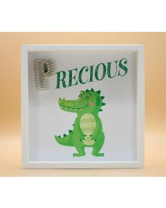 "Wandbild aus Holz ""PRECIOUS"" Krokodil - ohne Spruch"