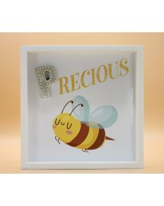 "Wandbild aus Holz ""PRECIOUS"" Biene - ohne Spruch"