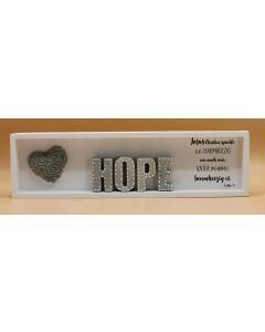 "Wandbild lang ""HOPE"" Lukas 6.36"