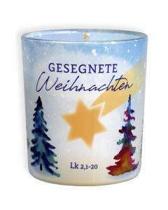 """Duftkerzenglas """"Gesegnete Weihnachten"""