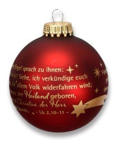 """Christbaumkugel """"Und der Engel sprach ..."""""""