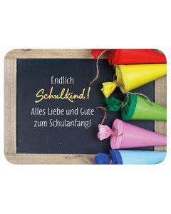 Postkarte - Endlich Schulkind!