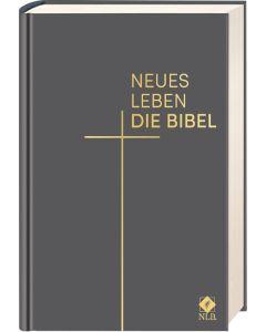 Neues Leben. Die Bibel, Taschenausgabe, Leder, Grau