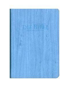 Die Heilige Schrift - Taschenbibel blau, Holzoptik