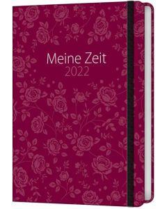 Meine Zeit 2022 - Taschenkalender (Rosen)