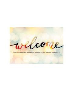 "Jahreslosung 2022 - Faltkarte ""Welcome"""