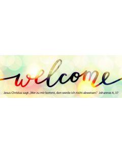 """Jahreslosung 2022 - Lesezeichen """"Welcome"""" 10er Set"""
