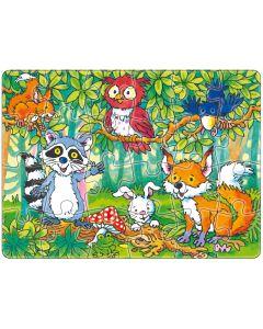 Mini-Puzzle: Tiere des Waldes