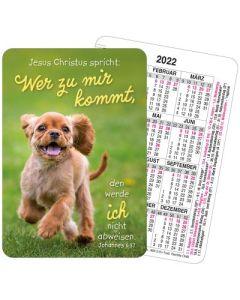 Jahreslosung 2022 - Spielkartenkalender - Hund