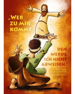 Jahreslosung 2022 - Plakat A3 - Kindergrafik
