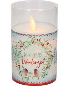 "LED-Glaswindlicht ""Wunderbare Winterzeit"""