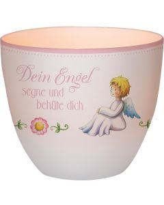 """Windlicht LichterZeit """"Dein Engel"""" - rosa"""