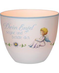 """Windlicht LichterZeit """"Dein Engel"""" - blau"""