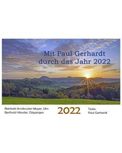 Mit Paul Gerhardt durch das Jahr 2022 - Wandkalender
