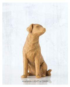 """27682 Willow Tree Figur """"Ich liebe meinen Hund"""" (hell)"""
