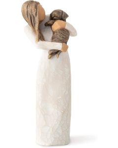 "Willow Tree Figur ""Adorable You - Dark Dog"""