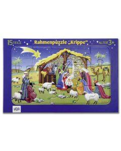 """Rahmenpuzzle """"Krippe"""""""