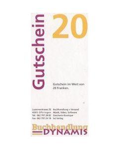 Dynamis Geschenkgutschein Fr. 20.-