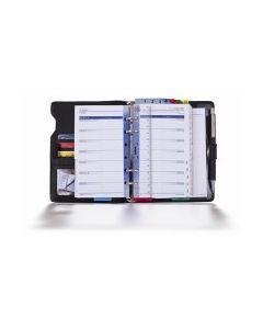 Zeitplansystem komplett aus Kunstleder, mit Kalendarium 52 (1 Woche auf 2 Seiten) und Organisationsteil