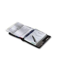 Zeitplansystem komplett aus Rindleder, mit Kalendarium 365/2 (1 Tag auf 2 Seiten mit Motivationstext: Zitate) und Organisationsteil, ohne Verschluss